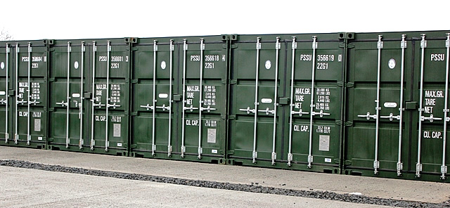 POD Self-storage containers, Duns, Berwickshire, Scottish Borders